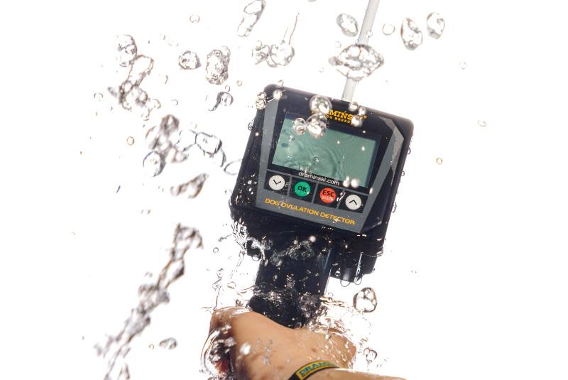 détecteur de l'œstrus de chaleurs silencieuses invisibles pour les chiennes bon marché efficace sûr infaillible résistant à l'eau à la poussière désinfection garantie service fabriqué en Pologne à Olsztyn